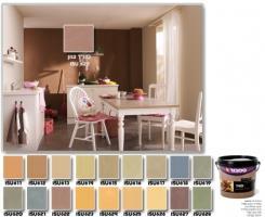 צבעים לקיר פנימי במראה דמוי זמש - טמבור
