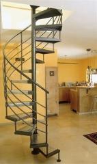 מדרגות לולייניות בשילוב אלומיניום - קו נבון