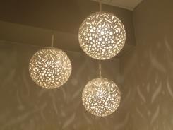 מנורת מובייל שלישיה קרמיקה  - ברק תאורה