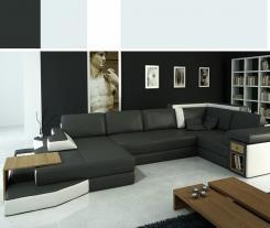 ספה פינתית שחורה - היבואנים