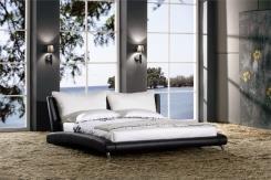 מיטת עור זוגית בעיצוב יפני - היבואנים