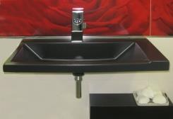 כיור שחור לאמבטיה - חלמיש