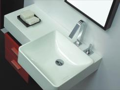 כיור מרובע לאמבטיה - חלמיש
