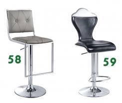 כסא בר שחור ואפור - היבואנים