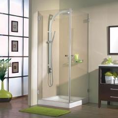 מקלחון פינתי שקוף - חמת מקלחונים