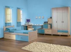 צבע לקיר בגוון כחול  - נירלט
