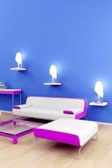 צבע לסלון בגוון כחול - נירלט
