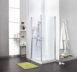 מקלחון פינתי שתי דלתות - חמת מקלחונים