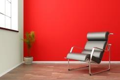 צבע לסלון בגוון אדום - נירלט