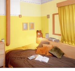 צביעת בתים בצבע צהוב - נירלט