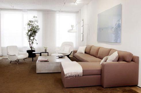 ספה חומה - זהבי גלרייה לעיצוב