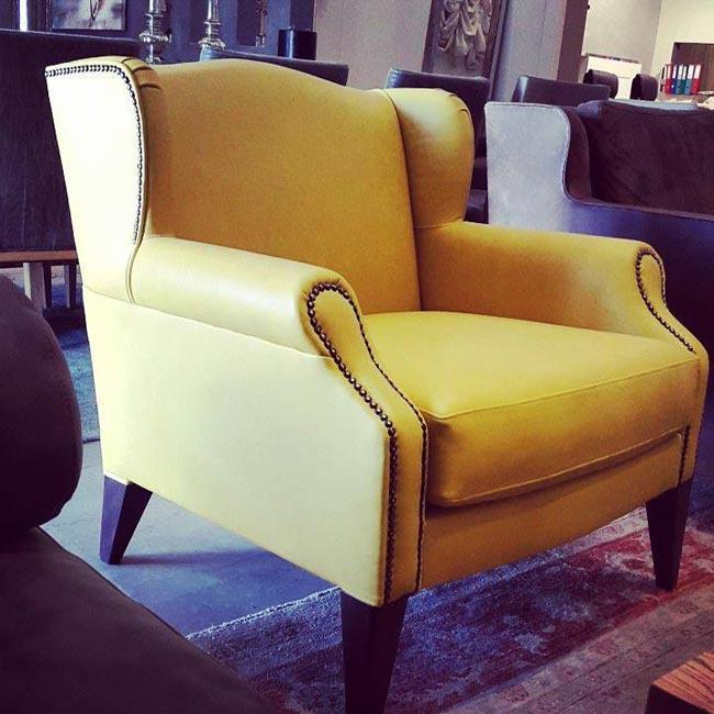 כורסא צהובה - זהבי גלרייה לעיצוב