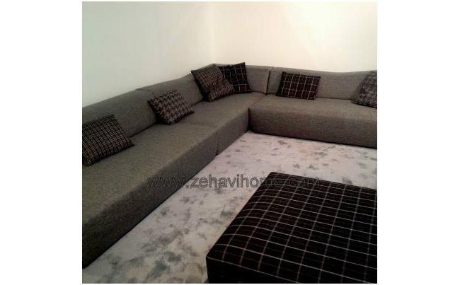 ספה אפורה פינתית - זהבי גלרייה לעיצוב