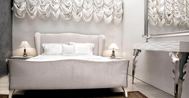 מיטה לבנה מהודרת - זהבי גלרייה לעיצוב