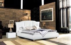 מיטה זוגית מעור לבן - היבואנים