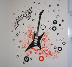 מדבקת קיר גיטרה - מטפטים
