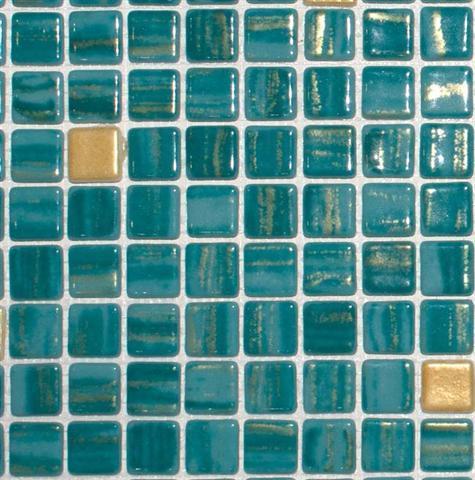 פסיפס זכוכית טורקיז - חלמיש