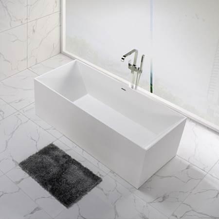 אמבטיה לבנה פרי סטנדינג - חלמיש