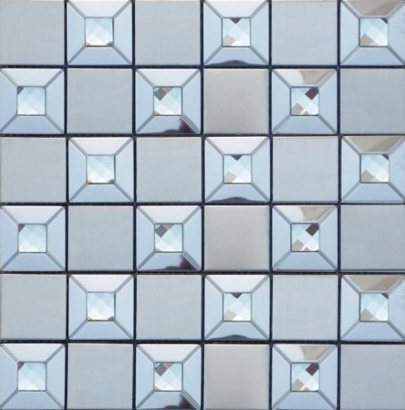 אריח פסיפס משולב זכוכית - חלמיש