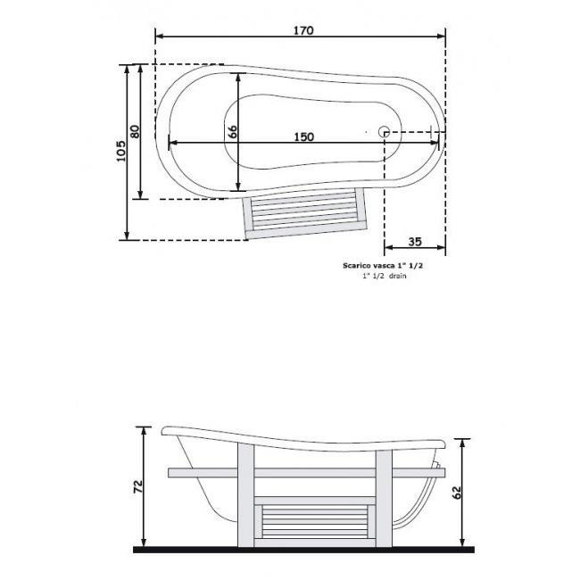 אמבטיה מפיברגלס - חלמיש