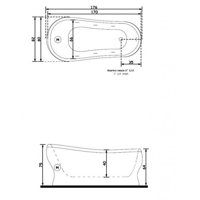 אמבטיית פיברגלס - חלמיש