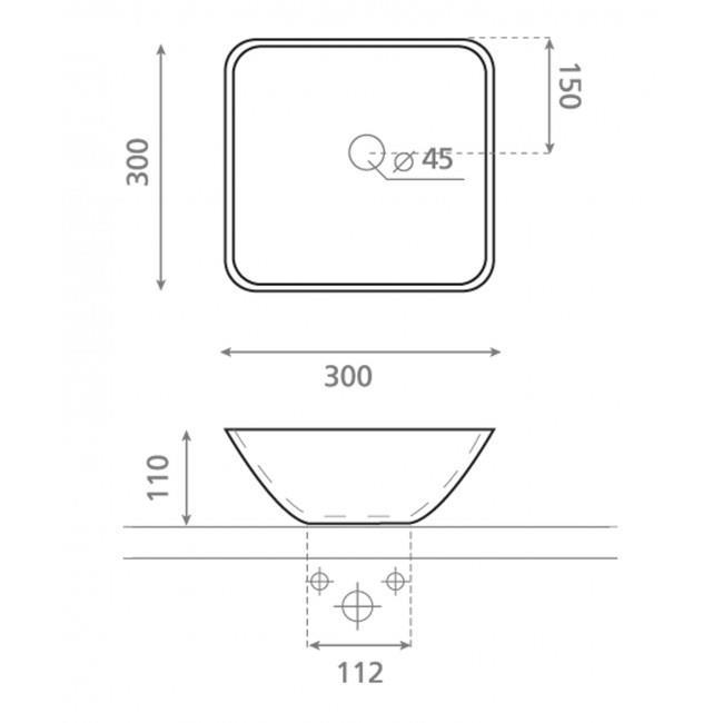 כיור מונח לחדר אמבטיה - חלמיש