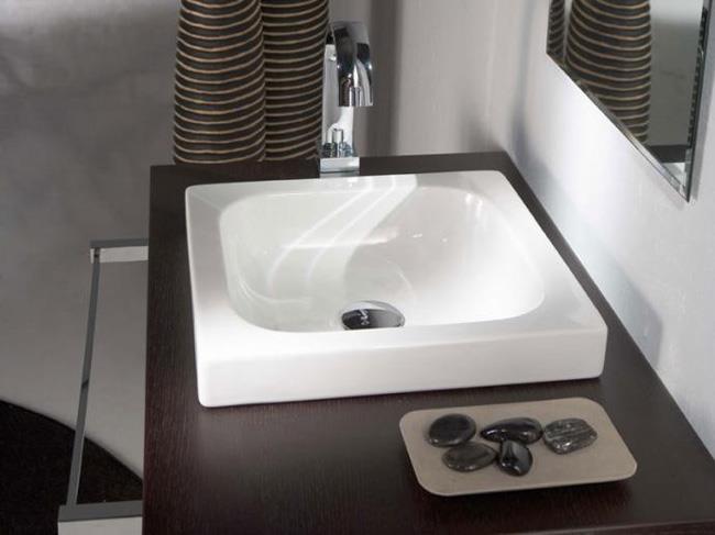 כיור מונח לחדר האמבטיה - חלמיש