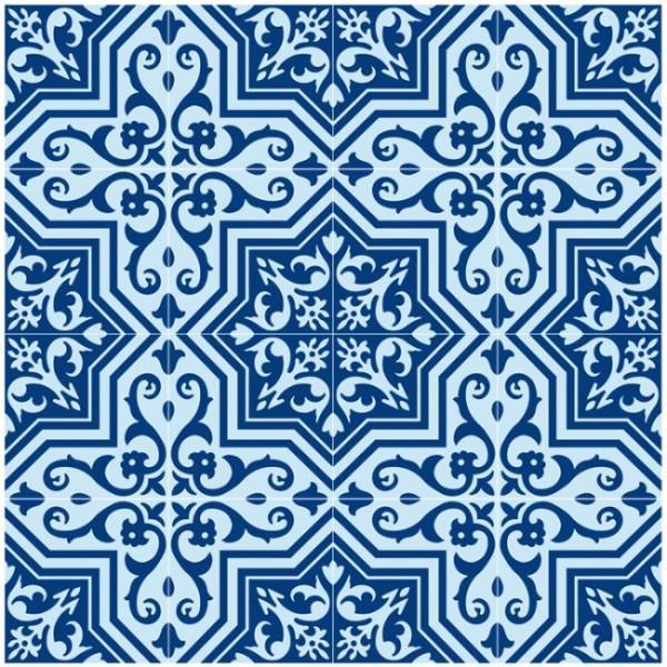 אריח פורצלן ענתיקה כחול תכלת - חלמיש