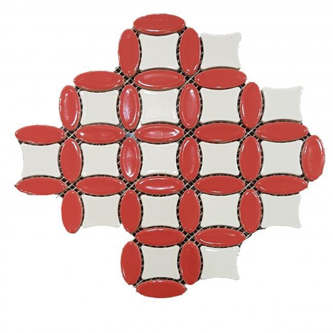 פסיפס קרמיקה אדום - חלמיש