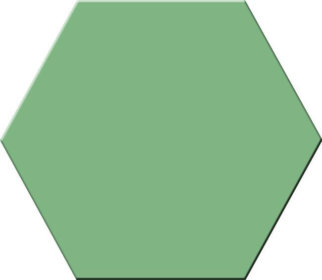 אריח משושה ירוק - חלמיש