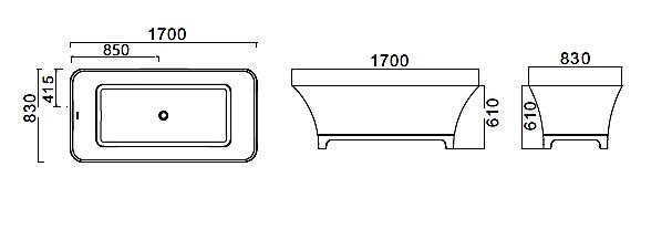אמבטיה דגם BT17MT - חלמיש
