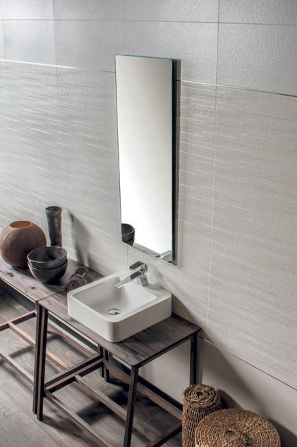 דמוי טיח לבן לקיר 1011703 - חלמיש