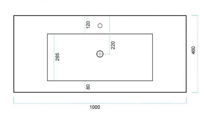 כיור קרמי L6174 - חלמיש