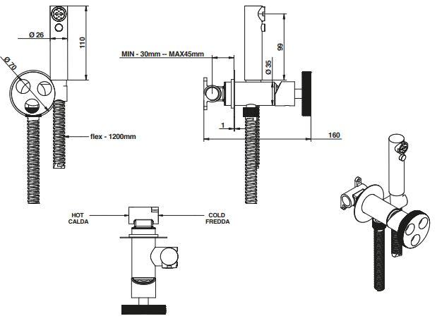 מזלף ואינטרפוץ דגם 38916 - חלמיש
