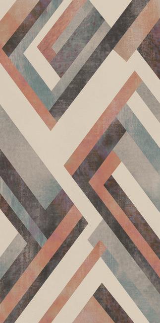 טפט גאומטרי צבעוני 1301006-6 - חלמיש