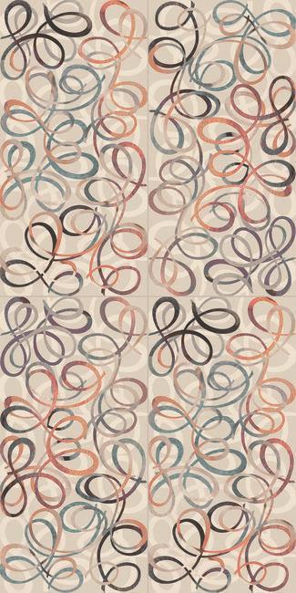 טפט ספירלות צבעוני 2301006-2 - חלמיש