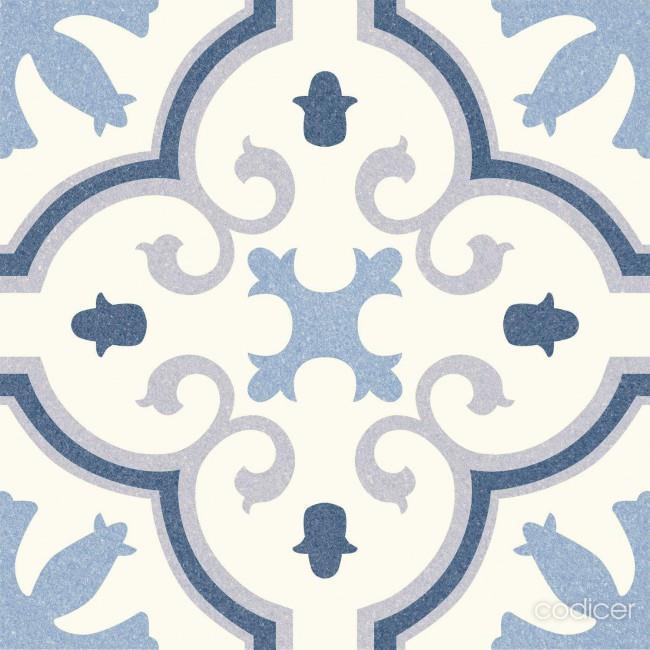 פורצלן גאומטרי כחול 1012128 - חלמיש