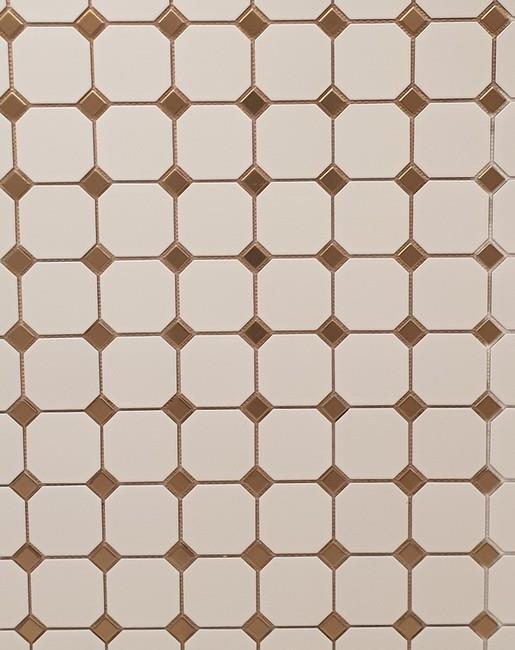 פורצלן מתומן לבן - דגם 1012032 - חלמיש