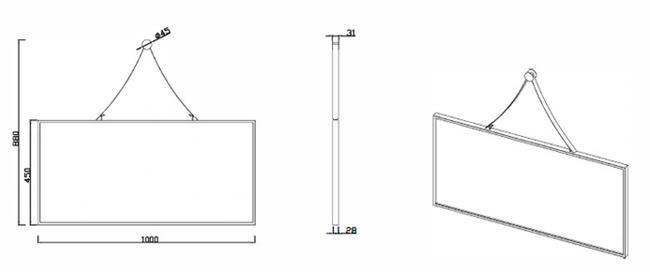 מראה מלבנית - דגם MR101 - חלמיש