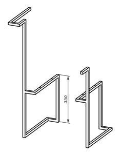 מסגרת ברזל/מתלה מגבות- דגם SP76 - חלמיש