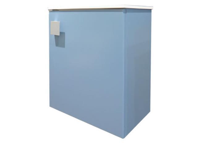 ארון שרותים כחול מט + כיור אבן -6422-4 - חלמיש