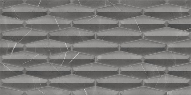 אריח תלת מימד אפור כהה - דגם 1012324 - חלמיש