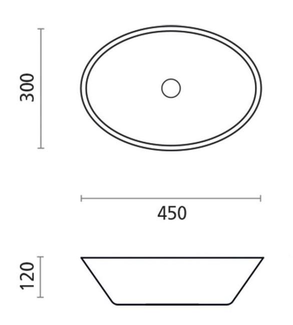כיור מונח מאבן מלאכותית  - חלמיש