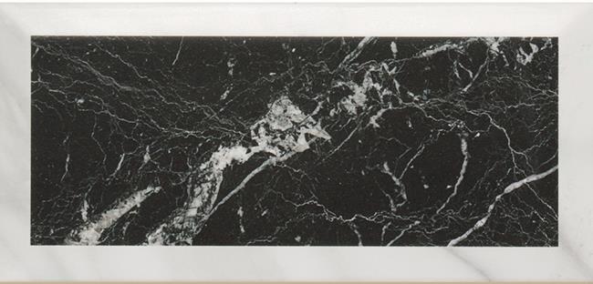 דמוי שיש שחור + פאזה קררה - חלמיש
