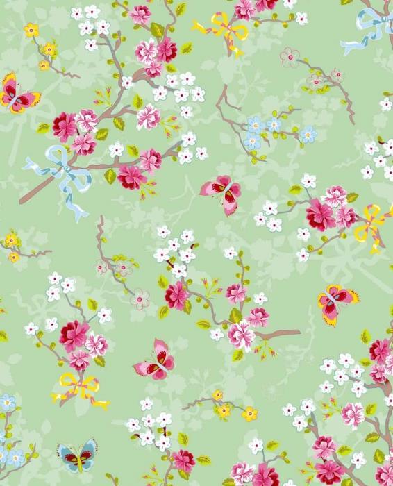 טפט פרחים ופרפרים - גולדשטיין גלרי טפט