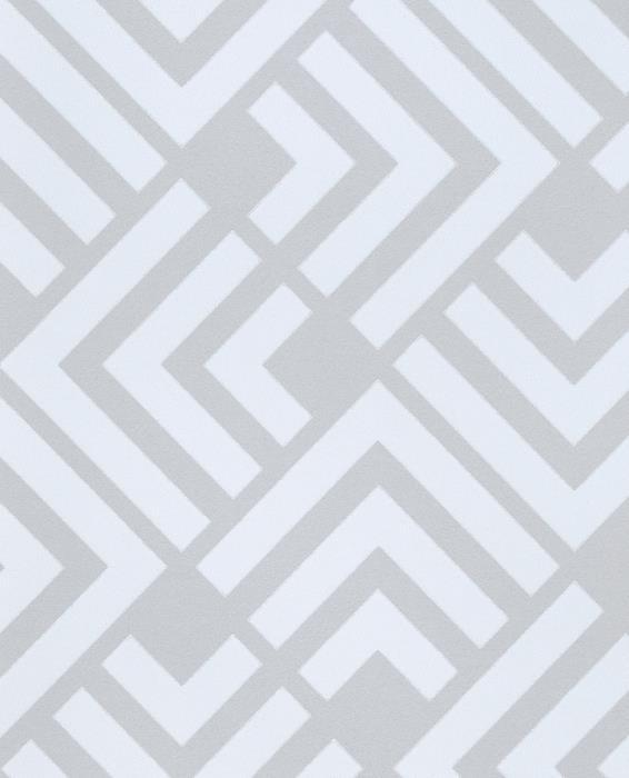 טפט גאומטרי לבן על אפור - גולדשטיין גלרי טפט