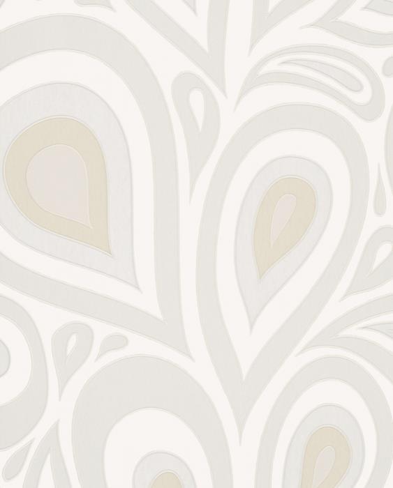 טפט פופ רטרו בשילוב מטלי בגוון שמנת - גולדשטיין גלרי טפט