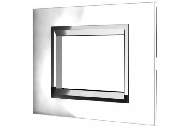 מסגרת מתג מזכוכית לבנה - ניסקו NISKO