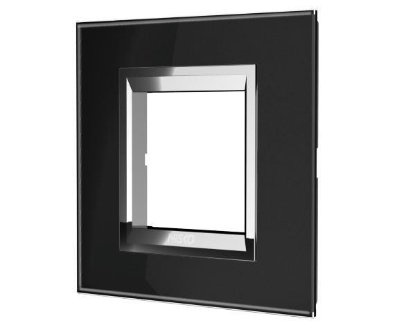 מתג זכוכית שחורה מט - ניסקו NISKO