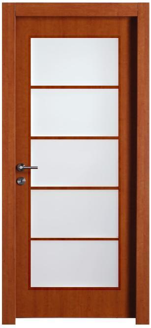 דלת יפנית בגוון דובדבן - דלתות חמדיה